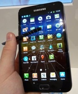 samsung galaxy note 1 ekran cam değişimi