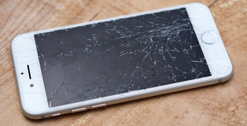 telefon ekraninda beyaz nokta
