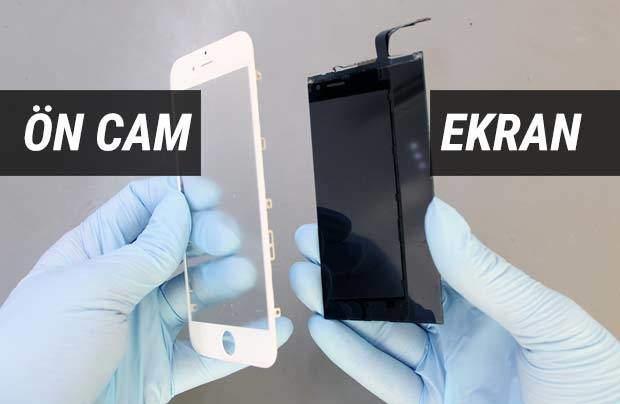 Apple iPhone Ön Cam Değişimi Örnek