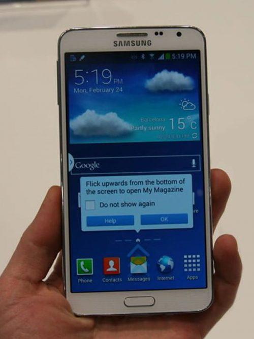 Samsung Note 3 Neo Ekran Cam