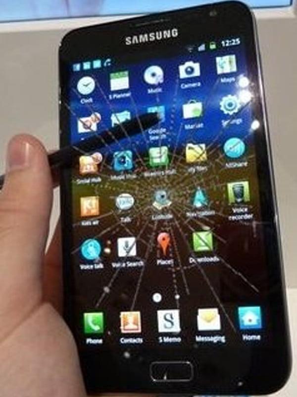 Samsung Note 1 Ekran Cam