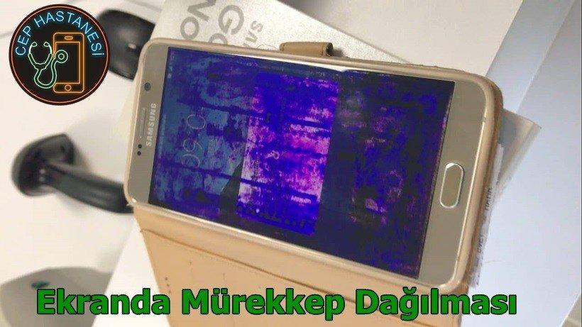 Telefon ekranda mürekkep dağılması