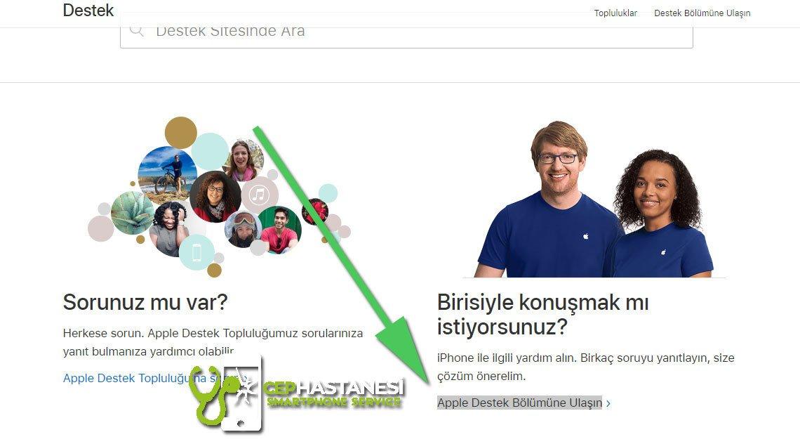 iPhone Canlı Desteğe Nasıl Bağlanılır Adım 2