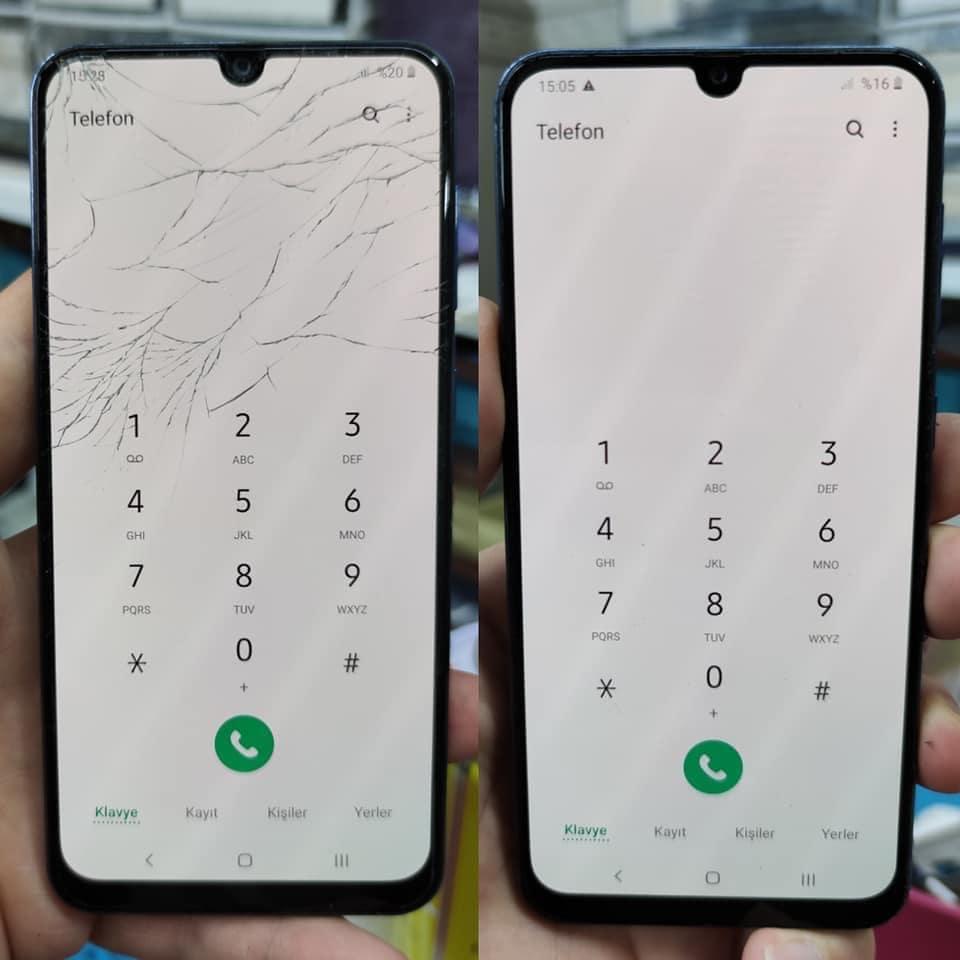Samsung A50 Ön Cam Değişimi