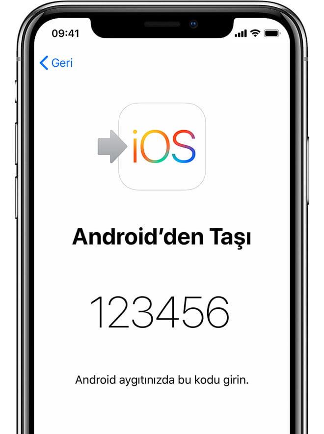 Android Telefondan iPhone data Aktarımı