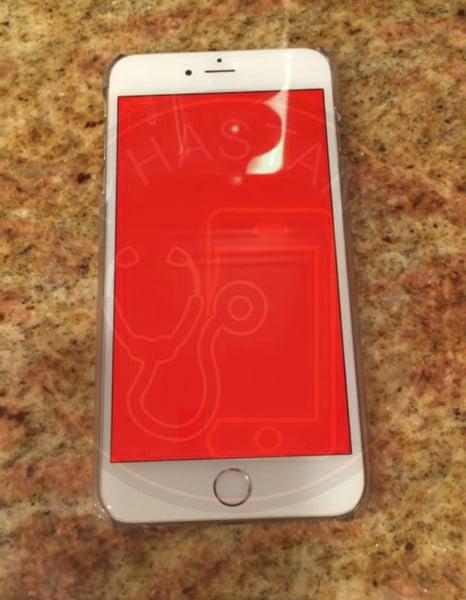 iphone kırmızı ekran sorunu
