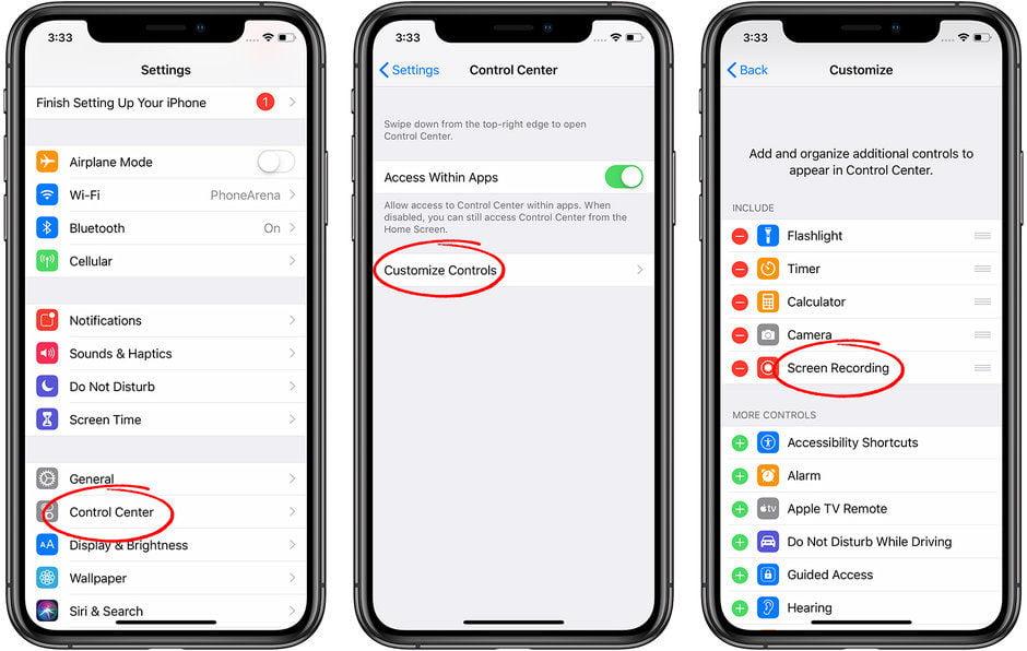 iphone ekran kaydı nasıl alırım