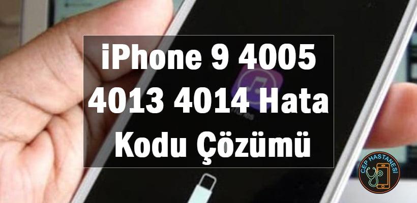 iphone hata kodları düzeltme