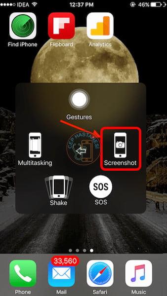 iPhone OrtaTuş Bozuldu Ekran Görüntüsü NasılAlınır