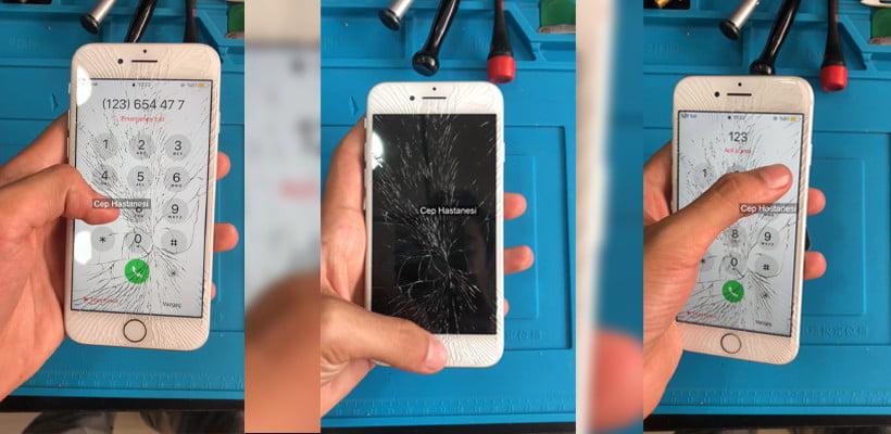 iphone camı kırılan telefon