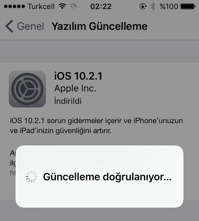 iPhone Güncelleme Doğrulanıyor Sorunu