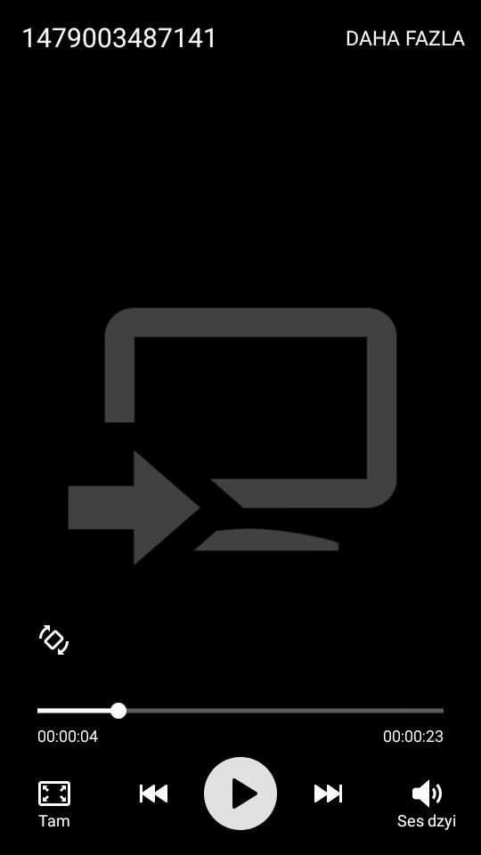 Videolarda Ses Var Görüntü Yok
