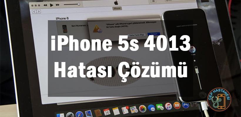 iPhone 5s 4013 Hatası Çözümü
