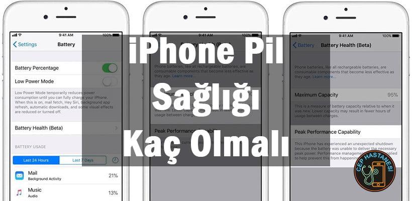 iPhone Pil Sağlığı Kaç Olmalı