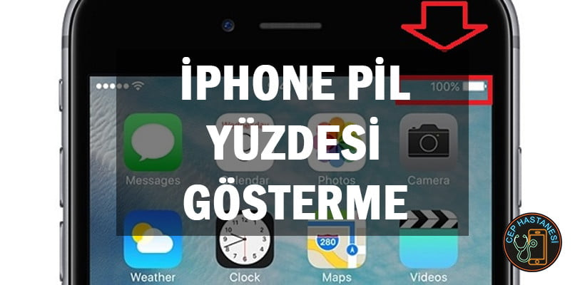 iPhone Pil Yüzdesi Gösterme
