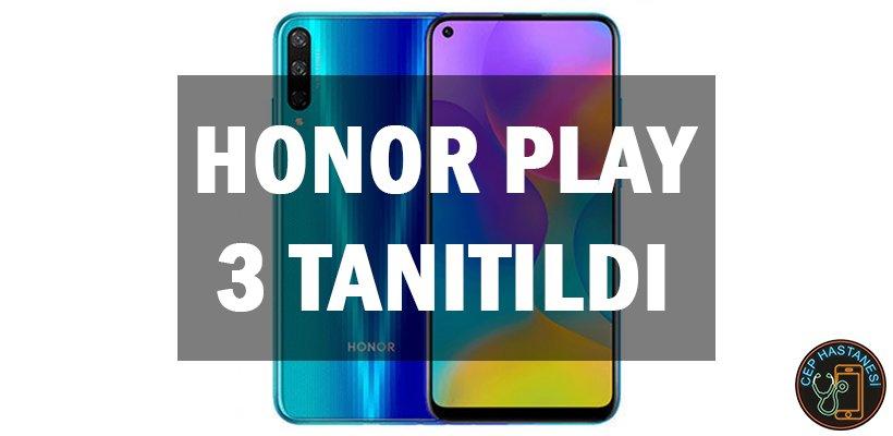 Honor Play 3 Tanıtıldı