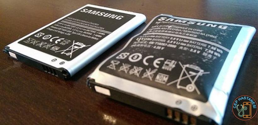 Şişmiş batarya örnek