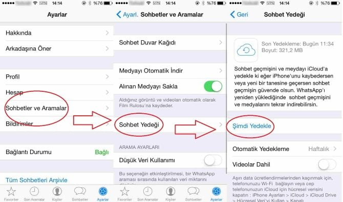 WhatsApp Yazısmalar Silindi