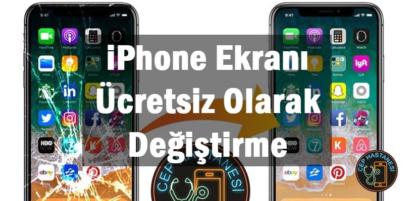 iPhone Ekranı Ücretsiz Olarak Değiştirme
