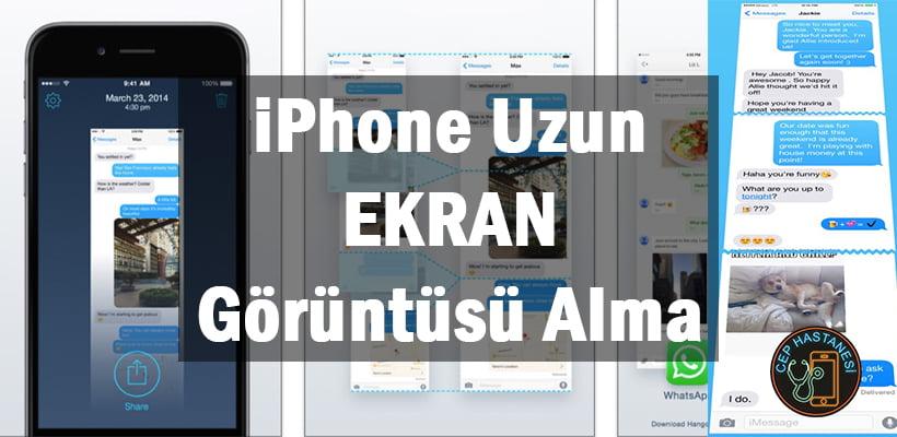 iPhone Uzun Ekran Görüntüsü Alma