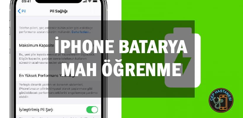iPhone Batarya mAh Öğrenme