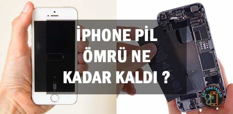 iPhone Pil Ömrü Ne Kadar Kaldı