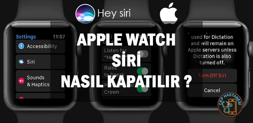 Apple Watch Siri Nasıl Kapatılır