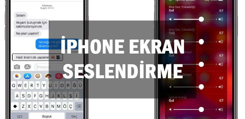 iPhone Ekran Seslendirme