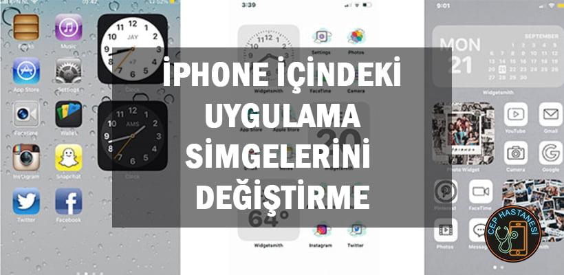 iPhone İçindeki Uygulama Simgelerini Değiştirme