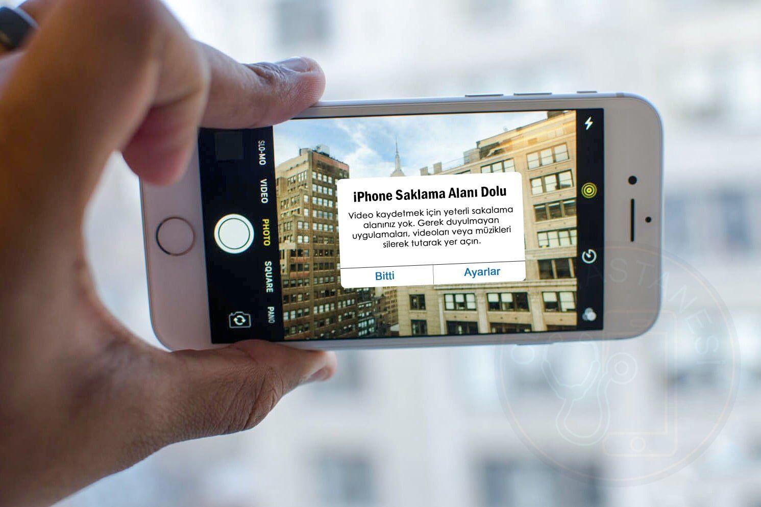 iPhone saklama alanı dolu