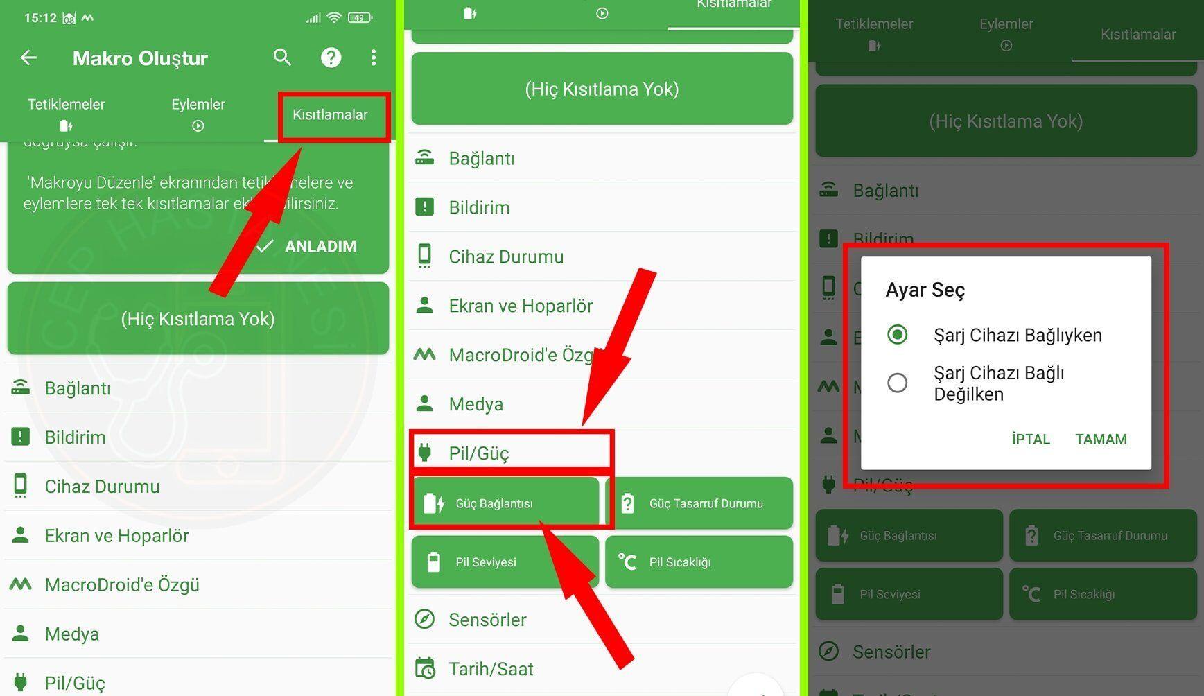 Android Şarja Takınca Konuşma